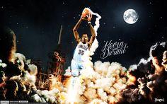 Kevin Durant Lift-Off Wallpaper | Posterizes.com - NBA Wallpaper Artwork