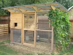 """The Garden Coop"" Chicken Coop Plans - Download Easy Chicken Coop and Hen House Plans or Designs"