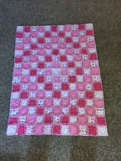 Front of baby rag quilt