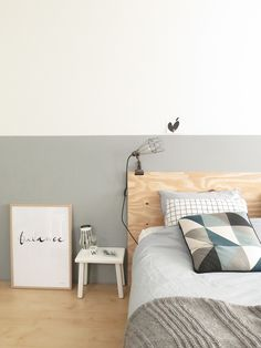Bedroom Colors Inspiration And Ideas - Unity Fashion Home Bedroom, Master Bedroom, Bedroom Decor, Bedrooms, Half Painted Walls, Rustic Bedroom Design, Small Space Interior Design, Couple Bedroom, Bedroom Colors
