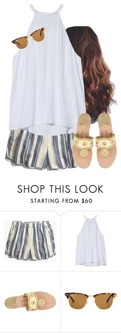 """Sunnies"" by aweaver-2 on Polyvore featuring Madewell, A.L.C., Jack Rogers and Ray-Ban"