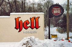 Hell, Michigan: Snowy Day in Hell