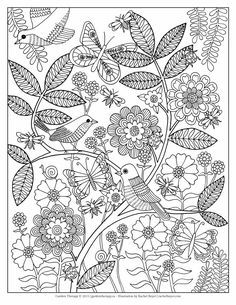 Life's a Garden is a free printable adult coloring page designed by a the talented artist, Rachel Beyer.