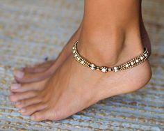 Anklets For Women // Ankle bracelet // Women Anklet // White