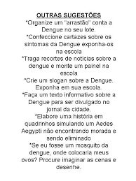 Resultado de imagem para sugestões de atividades para trabalhar a dengue