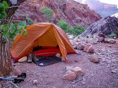 MSR Hubba at Clear Creek Campground - Grand Canyon