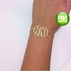 Monogram Bracelet 1.2 inch Personalized von BestMonogramNecklace, $39.99