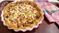 Póréhagymás - baconos quiche gyorsan, egyszerűen, leveles tésztából Quiche, Breakfast, Healthy, Food, Morning Coffee, Eten, Quiches, Meals, Morning Breakfast