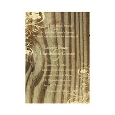 Rustic wood themed invitations