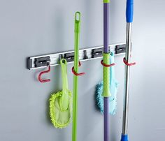 free shipping clean mop frame wall mount broom holder cleaning tools hanger hook - Broom Holder