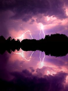 ~~Strike 3 . . . and 4 ~ dramatic lightening strikes, Chickahominy River, Virginia by Tim Scullion