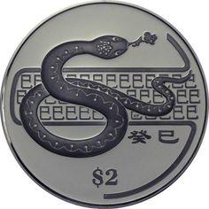 2 Dollar CuNi Jahr der Schlange - CuNi PL