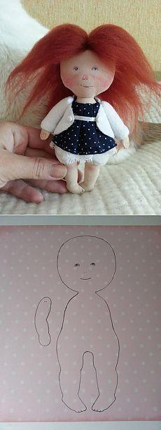 ТЕкстильная куколка.Малышка Соня. Выкройка