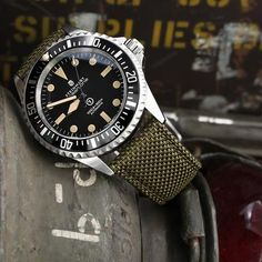 or Strong Texture Woven Nylon Military Green Watch Strap Brushed Fashion Brushed Green Military Nylon strap Strong texture vintage watches watch Woven Stylish Watches, Cool Watches, Rolex Watches, Watches For Men, Popular Watches, Casual Watches, Luxury Watches, Omega Flightmaster, Steinhart Watch