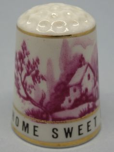 Home Sweet Home. 1989. Thimble Craft By Shirley. Inglaterra. Thimble-Dedal-Fingerhut.