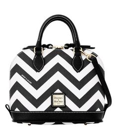 Another great find on #zulily! Black & White Chevron Bitsy Satchel #zulilyfinds