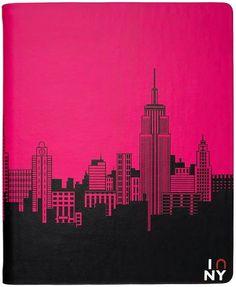 NY City Landscape in Pink