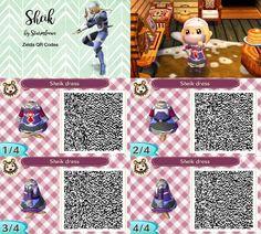 Ich hab Sheiks Outfit mal für Animal Crossing als Kleid designt sheik qr code