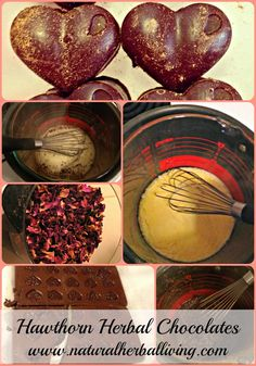 These Hawthorn Herbal Chocolates are a wonderful way to incorporate heart healthy herbs into your diet guilt free. Enjoy the power of cacao, hawthorn, rose and more and nourish your cardiovascular system while you are at it! #hearthealth #herbs #nourish