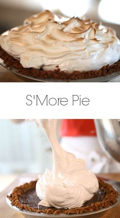 Pie S'more Pie Recipe is the perfect Thanksgiving dessert idea for the kid in you. Includes recipe video too.S'more Pie Recipe is the perfect Thanksgiving dessert idea for the kid in you. Includes recipe video too. Köstliche Desserts, Holiday Desserts, Dessert Recipes, Health Desserts, Dinner Recipes, Pie Dessert, Dinner Menu, Chocolate Desserts, Yummy Treats