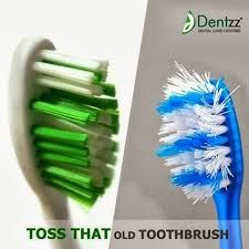 Replace the toothbrush with a new one, every 2 months for healthy teeth and gums
