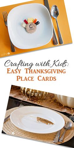 Crafting with Kids: Easy Thanksgiving Place Cards #howdoesshe #craftingwithkids howdoesshe.com