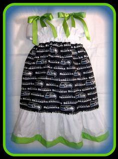 NFL Seattle Seahawks Boutique Pillowcase Dress by InlandSensations, $26.99