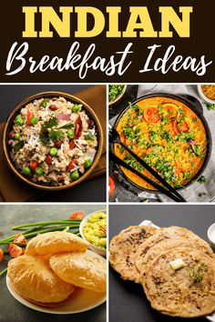 These Indian breakfast ideas are perfect for vegan and vegetarian diets! From mild to spicy, these recipes make meatless mornings so much more interesting. Indian Breakfast, Breakfast Ideas, Breakfast Recipes, Aloo Puri, Uttapam Recipe, Breakfast Around The World, Vegetarian Diets, Quick Easy Dinner, Tasty