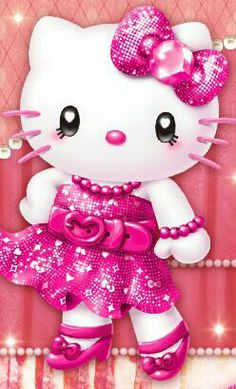 Glitter Delight - The Glitter Graphics Maker Hello Kitty Art, Hello Kitty Tattoos, Hello Kitty Themes, Hello Kitty Pictures, Hello Kitty Birthday, Sanrio Hello Kitty, Hello Kitty Backgrounds, Hello Kitty Wallpaper, Wallpaper Fofos