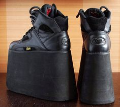 Reserved// BUFFALO Tower 15cm high black Platform Rave Club
