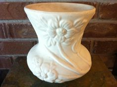 """Vintage Art Pottery Hull Pottery Crab Apple Matte White Art Pottery Vase - """"Crab Apple"""" Floral 1930s American Art Pottery by delovelyness on Etsy https://www.etsy.com/listing/100185322/vintage-art-pottery-hull-pottery-crab"""