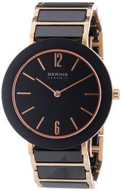 Bering Time Damen-Armbanduhr XS Ceramic Analog Quarz verschiedene Materialien 11435-746