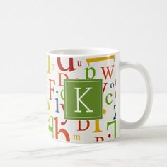 #Your Initial | Colorful Alphabet Coffee Mug - #drinkware #cool #special