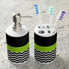 Halloween Bath Set Patience,Halloween Nears Halloween Bathroom Set  Toothbrush/soap Dispenser From Zazzle
