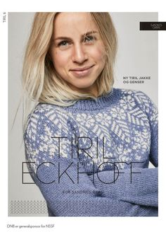 Tiril Snøkrystall Pullover pattern by Tiril Eckhoff Hand Knitted Sweaters, Sweater Knitting Patterns, Knit Patterns, Hand Knitting, Knitting Ideas, Knitting Projects, Summer Knitting, Winter Outfits, Graphic Sweatshirt