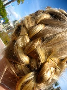 Easy french braid pin up