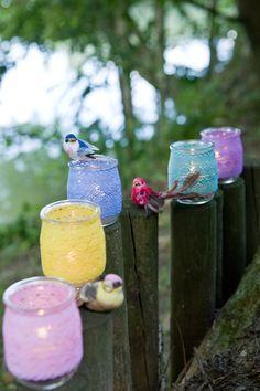 lace votives - diy idea