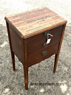 A Sewing Cabinet Refurbished with Yardsticks - Deanie's Stash