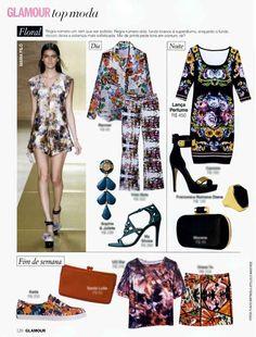 Revista Glamour - Vestido Floral Verão 14 -  lancaperfume.com.br
