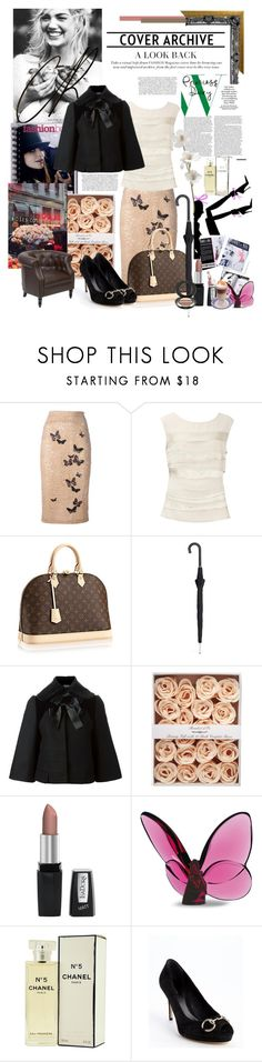 """~Romantic dinner~"" by nicolesynth ❤ liked on Polyvore featuring N°21, Coast, Alexander McQueen, Isadora, Baccarat, Chanel, Boots No7, Gucci and Grace"