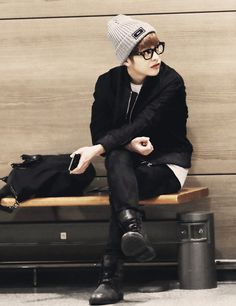 Xiumin love his style...I love guys who wear boots