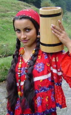 A real gypsy woman.  Isn't she beautiful?