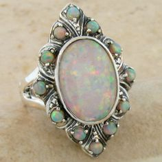 Jewelry Diamond : Antique Opal Ring - Buy Me Diamond Tiffany Jewelry, Opal Jewelry, I Love Jewelry, Boho Jewelry, Jewelry Gifts, Antique Jewelry, Vintage Jewelry, Jewelry Accessories, Antique Silver