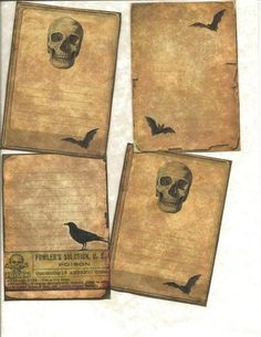 LOT OF~12 Vintage look LABELS~ Only for Witches set # 2 ~primitive labels ~