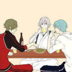 【刀剣乱舞】鶯丸と鶴丸国永と一期一振が酒盛り