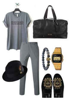 """CASUALCHIC"" by juanjoduarte ❤ liked on Polyvore featuring Dolce&Gabbana, Casio, PT01 Pantaloni Torino, Stacy Adams, Bulgari, men's fashion and menswear"