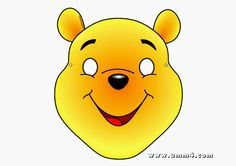 Winnie the Pooh Free Printable Mask.*****THIS IS AN AWESOME SITE FOR FREE PRINTABLES!!!!!