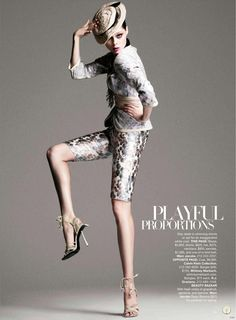 "Coco Rocha featured in the Harper's Bazaar USA editorial ""Hits Of The Season"" from February 2009 , showing Marc Jacobs"