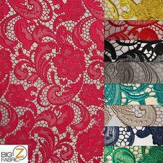 ROSE-FLORAL-PAISLEY-GUIPURE-VENICE-LACE-FABRIC-Dark-Gold-50-034-WIDTH-DRESS