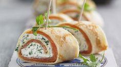 Rezept: Crêpe-Röllchen mit Lachs und Frischkäse